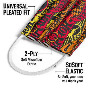 Load image into Gallery viewer, Hot Wheels Fired Up Pattern Kids Universal Pleated Fit, 2-Ply, SoSoft Elastic Earloops
