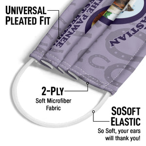 Parks and Recreation I Met Li'l Sebastian Adult Universal Pleated Fit, 2-Ply, SoSoft Elastic Earloops