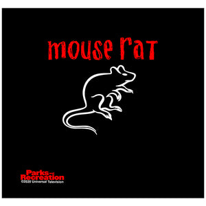 Parks and Recreation Mouse Rat Adult Mask Design Full View