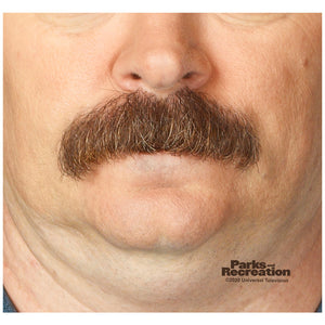 Parks and Recreation Ron Swanson Moustache Adult Mask Design Full View