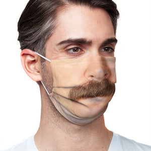 Parks and Recreation Ron Swanson Moustache Adult Main/Model View