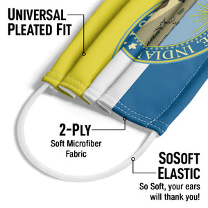 Parks and Recreation Pawnee Crest Adult Universal Pleated Fit, 2-Ply, SoSoft Elastic Earloops