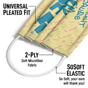 Saved by the Bell It's All Right Adult Universal Pleated Fit, 2-Ply, SoSoft Elastic Earloops