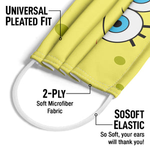 Load image into Gallery viewer, Spongebob Squarepants Face Adult Universal Pleated Fit, 2-Ply, SoSoft Elastic Earloops