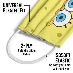 Load image into Gallery viewer, Spongebob Squarepants Face Kids Universal Pleated Fit, 2-Ply, SoSoft Elastic Earloops