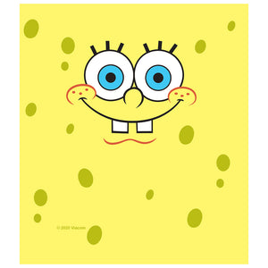 Load image into Gallery viewer, Spongebob Squarepants Face Kids Mask Design Full View