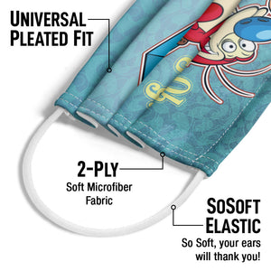 Ren & Stimpy Oh Joy Adult Universal Pleated Fit, 2-Ply, SoSoft Elastic Earloops
