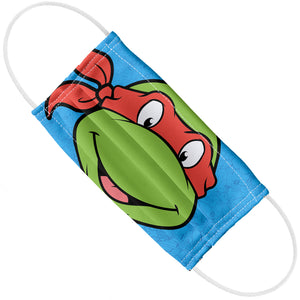 Teenage Mutant Ninja Turtles Raphael Face Adult Flat View