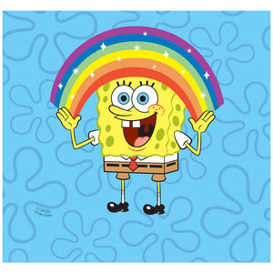 Load image into Gallery viewer, Spongebob Squarepants Rainbow Adult Mask Design Full View