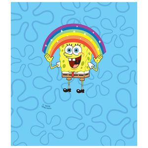 Load image into Gallery viewer, Spongebob Squarepants Rainbow Kids Mask Design Full View