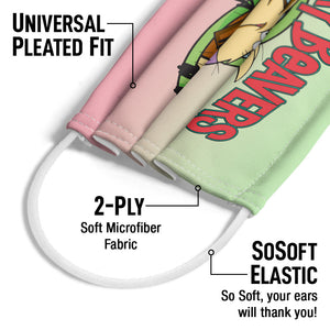 The Angry Beavers Logo Adult Universal Pleated Fit, 2-Ply, SoSoft Elastic Earloops