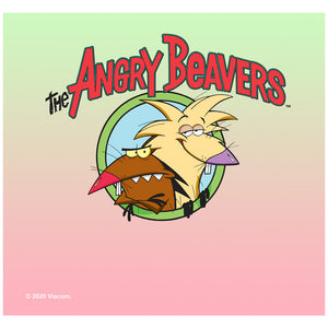 The Angry Beavers Logo Adult Mask Design Full View