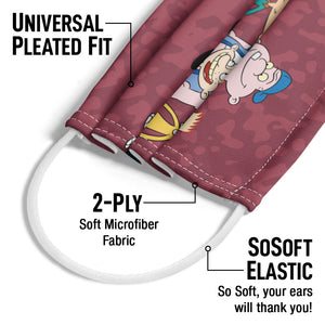 Hey Arnold! Group Adult Universal Pleated Fit, 2-Ply, SoSoft Elastic Earloops