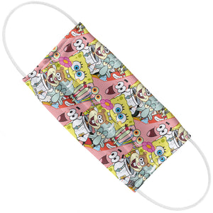 Spongebob Squarepants Character Pattern Adult Flat View