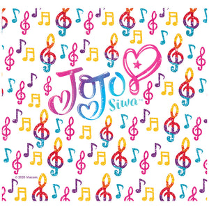 Load image into Gallery viewer, Jojo Siwa Logo and Music Pattern Adult Mask Design Full View