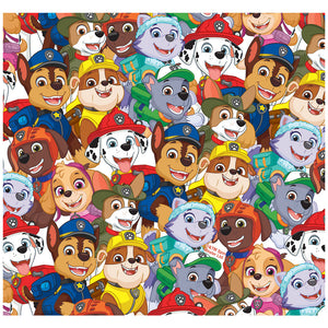 Paw Patrol Pup Pile Pattern Adult Mask Design Full View