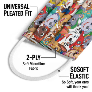 Paw Patrol Pup Pile Pattern Kids Universal Pleated Fit, 2-Ply, SoSoft Elastic Earloops