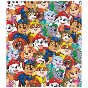 Paw Patrol Pup Pile Pattern Kids Mask Design Full View