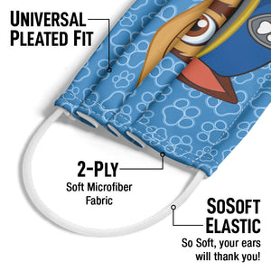 Paw Patrol Chase Adult Universal Pleated Fit, 2-Ply, SoSoft Elastic Earloops