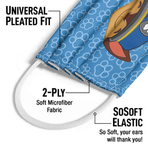 Paw Patrol Chase Kids Universal Pleated Fit, 2-Ply, SoSoft Elastic Earloops