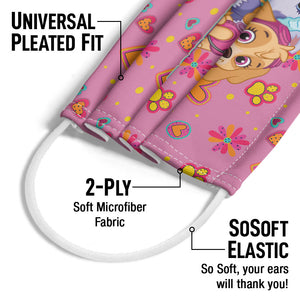 Paw Patrol Girl Team Adult Universal Pleated Fit, 2-Ply, SoSoft Elastic Earloops