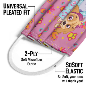 Paw Patrol Girl Team Kids Universal Pleated Fit, 2-Ply, SoSoft Elastic Earloops