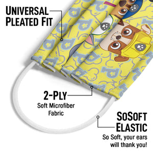 Paw Patrol Eager Pups Adult Universal Pleated Fit, 2-Ply, SoSoft Elastic Earloops