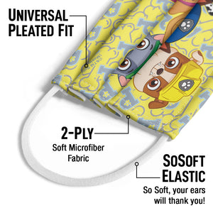 Paw Patrol Eager Pups Kids Universal Pleated Fit, 2-Ply, SoSoft Elastic Earloops