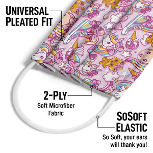 Load image into Gallery viewer, JoJo Siwa Squishy Pattern Adult Universal Pleated Fit, 2-Ply, SoSoft Elastic Earloops
