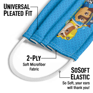 Paw Patrol Trio Kids Universal Pleated Fit, 2-Ply, SoSoft Elastic Earloops