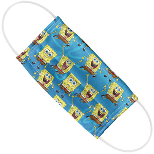 Spongebob Squarepants Pattern Adult Flat View