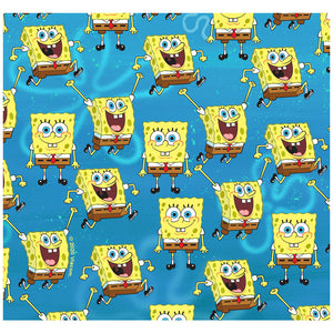 Spongebob Squarepants Pattern Adult Mask Design Full View