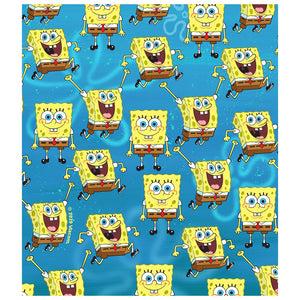 Spongebob Squarepants Pattern Kids Mask Design Full View