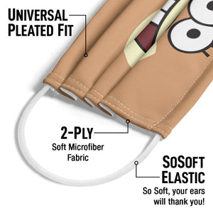 Load image into Gallery viewer, Spongebob Sandy Cheeks Face Adult Universal Pleated Fit, 2-Ply, SoSoft Elastic Earloops