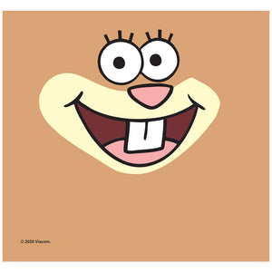 Load image into Gallery viewer, Spongebob Sandy Cheeks Face Adult Mask Design Full View