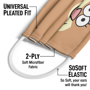 Load image into Gallery viewer, Spongebob Sandy Cheeks Face Kids Universal Pleated Fit, 2-Ply, SoSoft Elastic Earloops