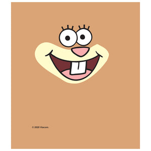 Load image into Gallery viewer, Spongebob Sandy Cheeks Face Kids Mask Design Full View