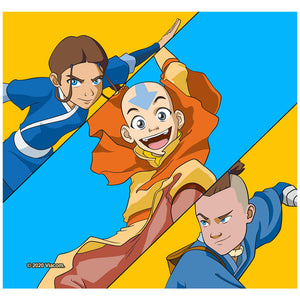 Load image into Gallery viewer, Avatar: The Last Airbender Aang, Katara and Sokka Adult Mask Design Full View