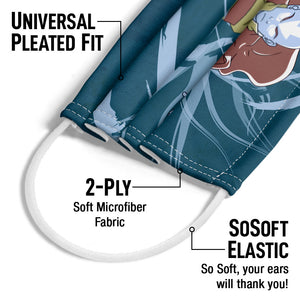 Avatar: The Last Airbender Avatar State Aang Adult Universal Pleated Fit, 2-Ply, SoSoft Elastic Earloops