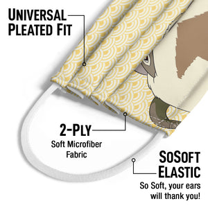 Avatar: The Last Airbender Appa Face Kids Universal Pleated Fit, 2-Ply, SoSoft Elastic Earloops