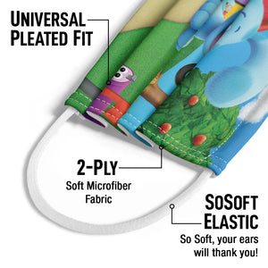Blue's Clues and You! Blue's House Kids Universal Pleated Fit, 2-Ply, SoSoft Elastic Earloops