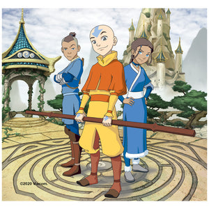 Avatar: The Last Airbender Cast of Characters Adult Mask Design Full View
