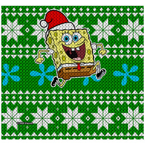 SpongeBob Ugly Sweater Adult Mask Design Full View