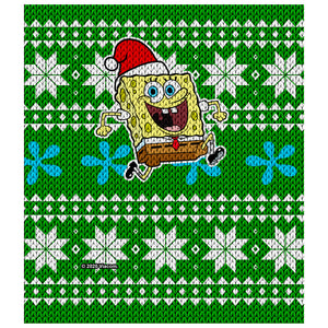 SpongeBob Ugly Sweater Kids Mask Design Full View