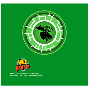 Wild Kratts Green Moose Power Disc Adult Mask Design Full View