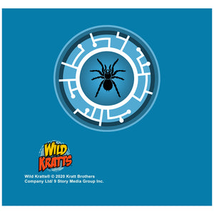 Wild Kratts Blue Tarantula Power Disc Adult Mask Design Full View