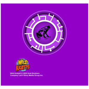 Wild Kratts Purple Frog Power Disc Adult Mask Design Full View