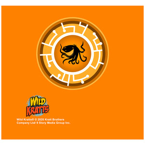 Wild Kratts Orange Octopus Power Disc Adult Mask Design Full View