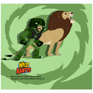 Wild Kratts Lion Power Adult Mask Design Full View