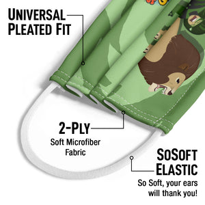 Wild Kratts Lion Power Kids Universal Pleated Fit, 2-Ply, SoSoft Elastic Earloops